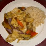 Chicken w. Chinese Eggplant in Garlic Sauce