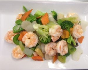 Steamed shrimp &vegetables(from the Health Minded)