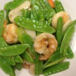 shrimp with snow pea