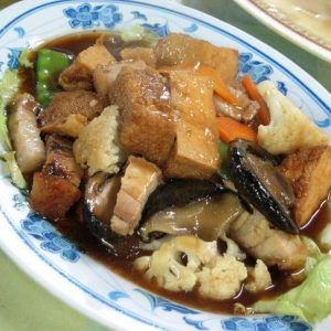 Roast Pork w. Chinese Veg