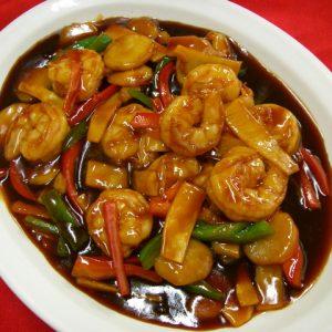 Shrimp & Scallops Hunan Style