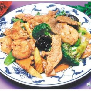 Triple Delight w. Garlic Sauce
